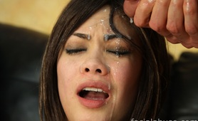 Asian twat Leilani Vega Face Fucked