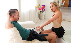 Brett Rossi helps injured son with huge cock feel better.