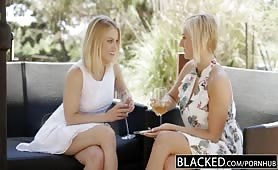 BLACKED First interracial threesome for Ash Hollywood and Kate England