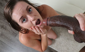 Amber Mae Milks Monster Black Cock